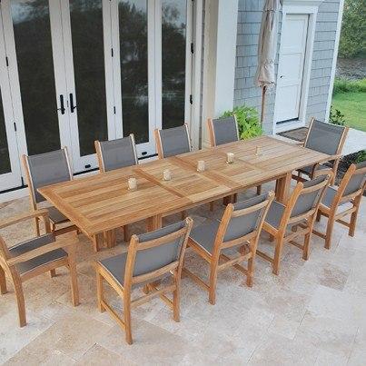 """Kingsley Bate Hyannis Teak 118"""" Rectangular Extension Dining Table  by Kingsley Bate"""