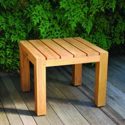 """Kingsley Bate Mendocino Teak 22.5"""" Square Side Table  by Kingsley Bate"""