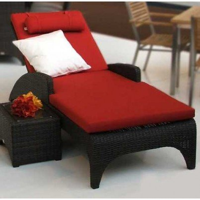 Barlow Tyrie Savannah Wicker Chaise Lounge   by Barlow Tyrie