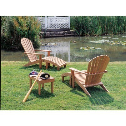 Barlow Tyrie Adirondack Teak Rectangular Side Table   by Barlow Tyrie