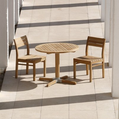 Barlow Tyrie  Bermuda Teak 3pc Dining Ensemble  by Barlow Tyrie