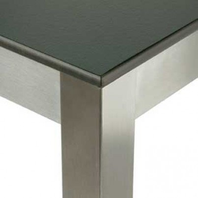 Barlow Tyrie Equinox Stainless Steel and Laminate Rectangular Dining Table  by Barlow Tyrie