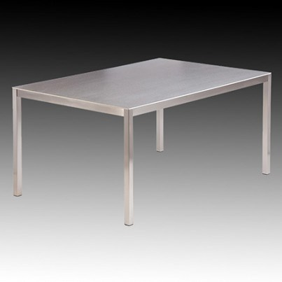 Barlow Tyrie Equinox Stainless Steel and Ceramic Rectangular Dining Table  by Barlow Tyrie