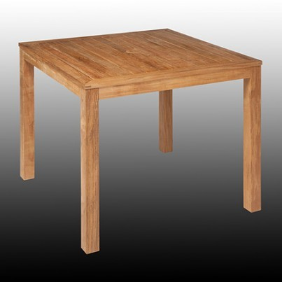 "Barlow Tyrie Linear Teak 39"" Square Dining Table  by Barlow Tyrie"