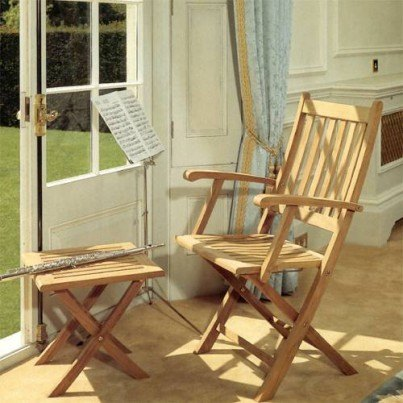 Barlow Tyrie Ascot Teak Folding Carver Chair  by Barlow Tyrie