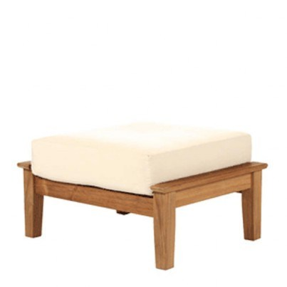 Barlow Tyrie Haven Teak Ottoman   by Barlow Tyrie