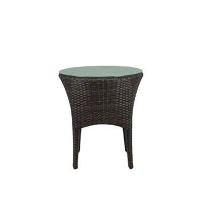 Source Outdoor St.Tropez Wicker End Table - Round  by Source Outdoor