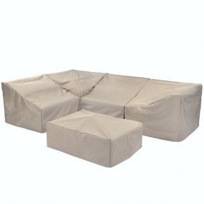 Kingsley Bate Sag Harbor Sectional Curved Armless Settee Cover - Main Panel no sides  by Kingsley Bate