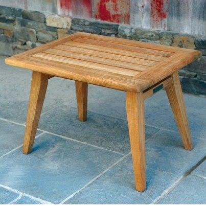 "Kingsley Bate Ipanema Teak 25"" x 24"" Rectangular Side Table  by Kingsley Bate"