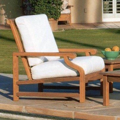 Kingsley Bate Nantucket Teak Deep Seating Lounge Chair  by Kingsley Bate