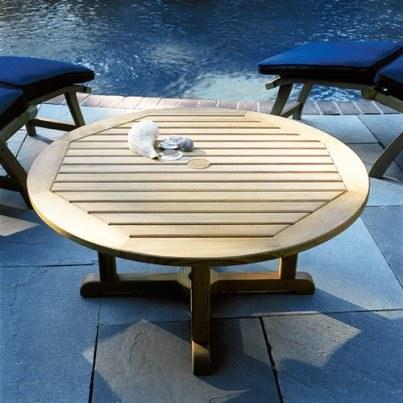 """Kingsley Bate Essex Teak Round Coffee Table 36""""  by Kingsley Bate"""