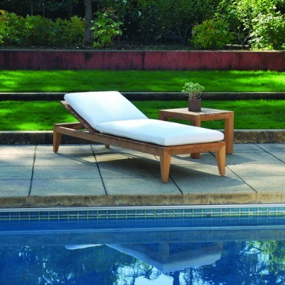 Kingsley Bate Mendocino Teak Chaise Lounge (a minimum order of 2 required)  by Kingsley Bate