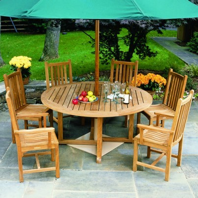 Kingsley Bate Essex and Classic Teak 11 Piece Dining Ensemble  by Kingsley Bate
