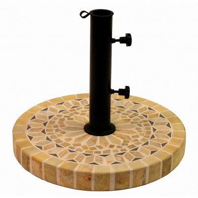"Outdoor Interiors 20"" Heavy Duty Umbrella Base (Matte Stone)  by Outdoor Interiors"