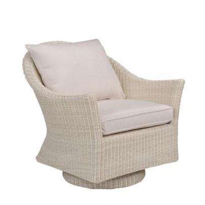 Kingsley Bate Cape Cod Wicker Swivel Rocker Lounge Chair  by Kingsley Bate