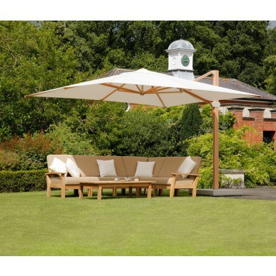 Barlow Tyrie Napoli 11.5' Square Cantilever Umbrella  by Barlow Tyrie