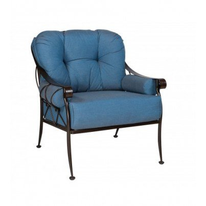 Woodard Derby Wrought Iron Lounge Chair  by Woodard