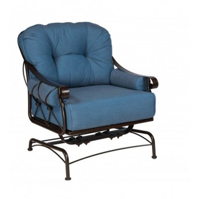 Woodard Derby Wrought Iron Spring Lounge Chair  by Woodard
