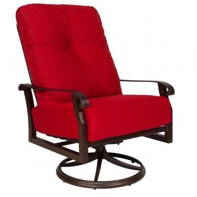 Woodard Cortland Aluminum Extra Large Swivel Rocker Lounge Chair  by Woodard