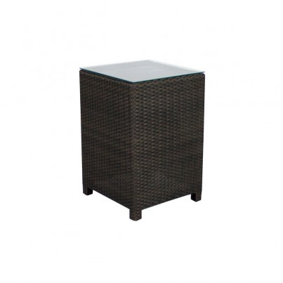 Source Outdoor King Wicker Side Table - Square   by Source Outdoor
