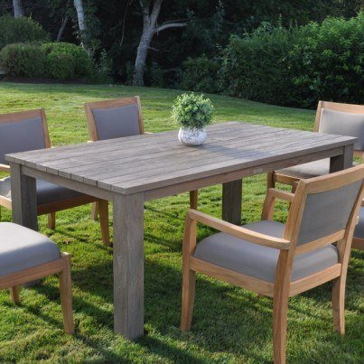 "Kingsley Bate Tuscany Teak Rustic 73"" Rectangular Dining Table  by Kingsley Bate"