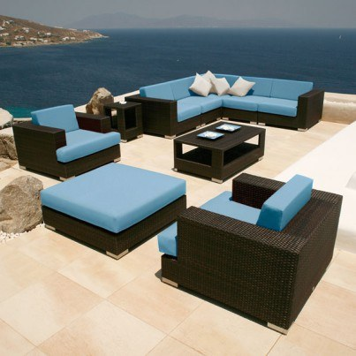 Barlow Tyrie Arizona 10pc Deep Seating Ensemble  by Barlow Tyrie