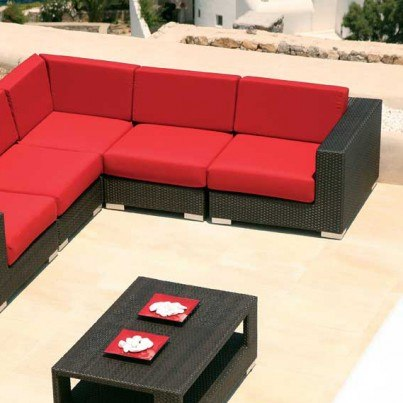 Barlow Tyrie Arizona Wicker Deep Seating Sectional Corner Unit  by Barlow Tyrie