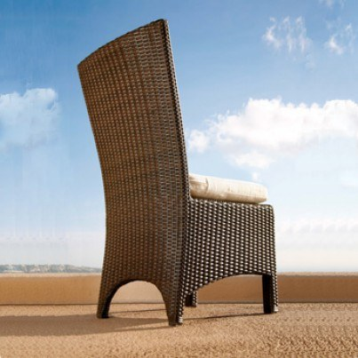 Barlow Tyrie Savannah Wicker Dining Side Chair (sold in pairs only, price each)  by Barlow Tyrie