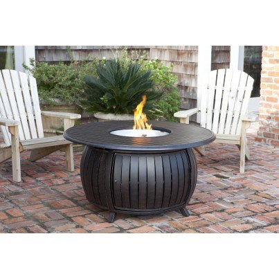 Grand Cooper Extruded Aluminum Round LPG Fire Pit  by Frontera Furniture Company