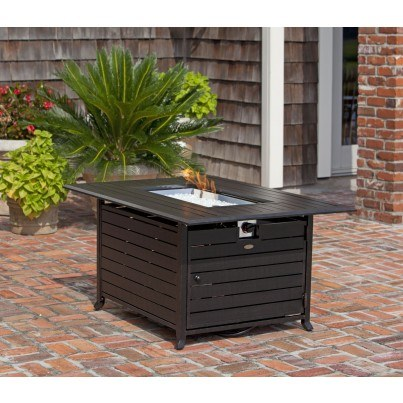 Longmont Extruded Aluminum Rectangular LPG Fire Pit  by Frontera Furniture Company