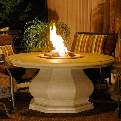 Chat Height Octagon Fire Pit Table with Concrete Top  by CGProducts