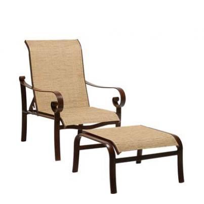 Woodard Belden Aluminum Sling Adjustable Lounge Chair  by Woodard
