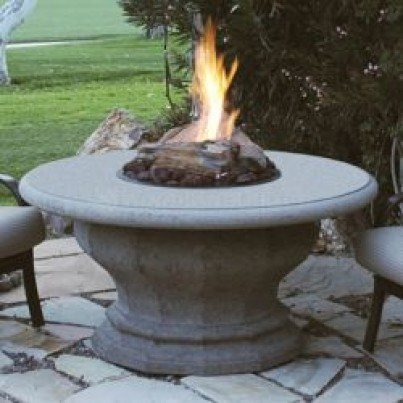 Inverted Chat Height Artisan Top Fire Pit Table  by CGProducts