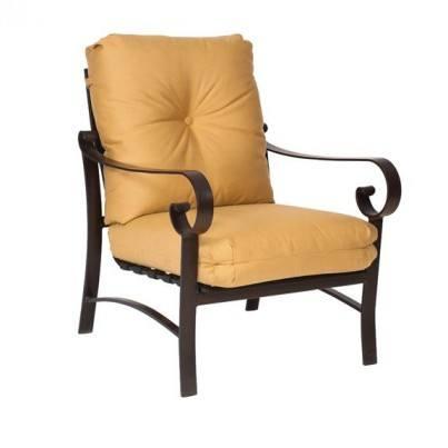 Woodard Belden Aluminum Stationary Lounge Chair  by Woodard