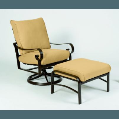 Woodard Belden Aluminum Swivel Rocking Lounge Chair  by Woodard