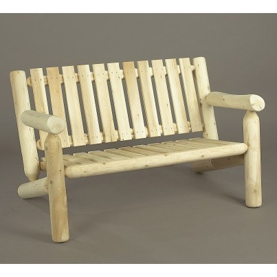 Rustic Natural Cedar 4' Settee  by Rustic Natural Cedar