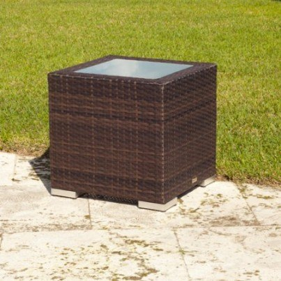 Source Outdoor Lucaya Wicker End Table   by Source Outdoor