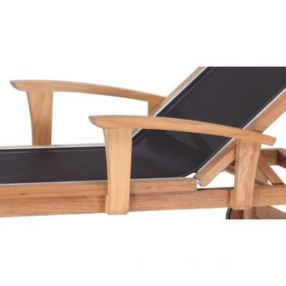 Kingsley Bate St. Tropez Teak Adjustable Chaise Lounge Arms  by Kingsley Bate
