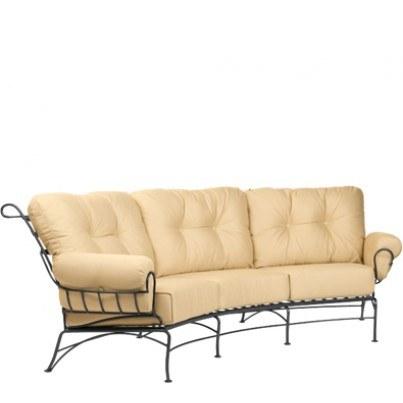 Woodard Terrace Wrought Iron Crescent Sofa  by Woodard