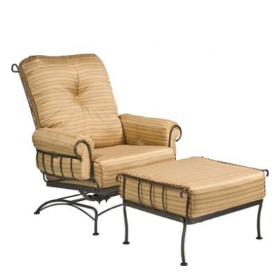 Woodard Terrace Wrought Iron Spring Lounge Chair  by Woodard