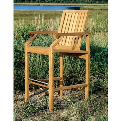 Kingsley Bate Nantucket Teak Bar Chair  by Kingsley Bate
