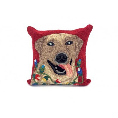 Trans-Ocean Frontporch Happy Holidays Red Pillow  by TransOcean