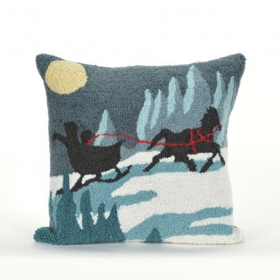 Trans-Ocean Frontporch Sleigh Ride Night Pillow  by TransOcean