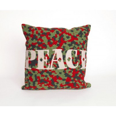 "Trans-Ocean Visions ll Peace Red 20"" Square Pillow  by TransOcean"