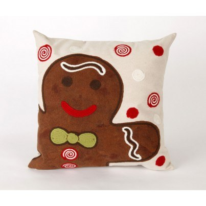 Trans-Ocean Visions lll Ginger Boy Chocolate Square Pillow  by TransOcean
