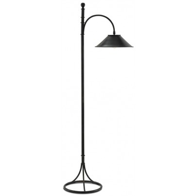 Currey & Company Vermay Wrought Iron Floor Lamp  by Currey & Company
