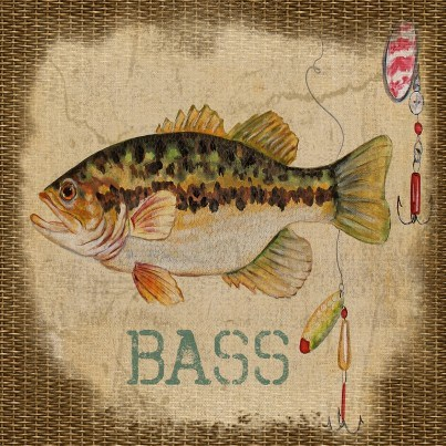 West of the Wind Outdoor Canvas Wall Art - Bass  by West of the Wind