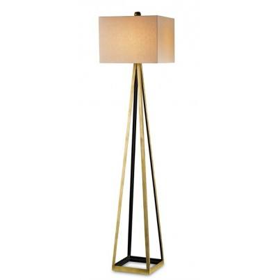 Currey & Company Bel Mondo Wrought Iron Floor Lamp, Gold  by Currey & Company