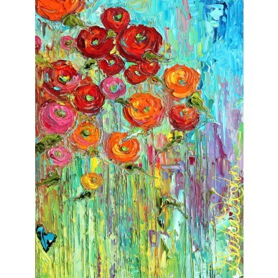 West of the Wind Outdoor Canvas Wall Art - Poppies  by West of the Wind