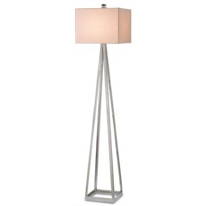 Currey & Company Bel Mondo Wrought Iron Floor Lamp, Silver  by Currey & Company